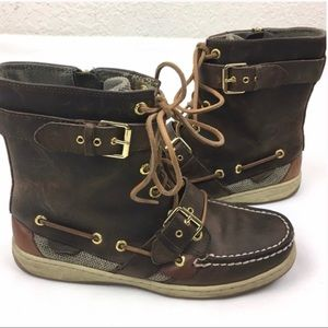 Sperry High Top Marella Chukka Distressed Boots